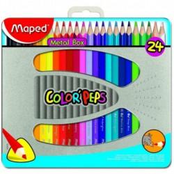 Pastelli Maped in confezione metallica da 24 pezzi
