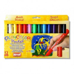 Playcolor pocket stilo tempera solida box 12 ass