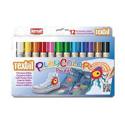 PlayColor pocket stilo tempera solida textil box 12 ass
