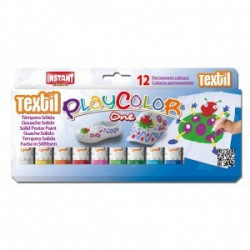 PlayColor tempera solida textil box 12 ass
