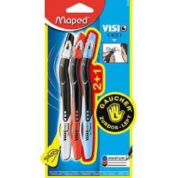 Penna a sfera per mancini Visio pen blister 3pz Maped