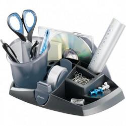 Porta accessori da scrivania Maped Egologic grigio