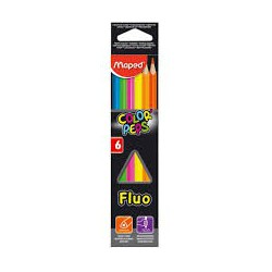 Pastelli Maped Fluo confezione da 6 pezzi