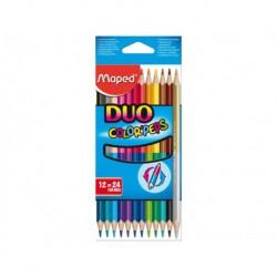 Pastelli Maped Duo in confezione da 12 pezzi